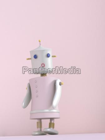 female robot 3d rendering
