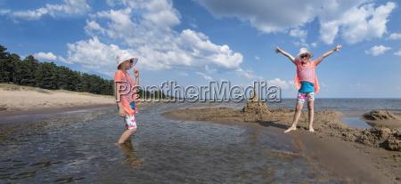 estonia lake peipus kauksi beach digital