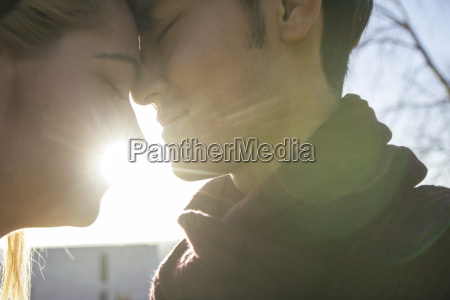 young couple in love head to