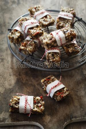 homemade glutenfree vegan granola bars