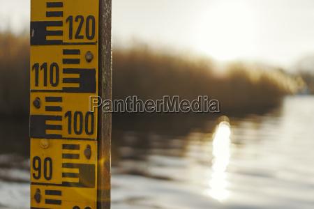 germany bavaria lake staffelsee water gauge