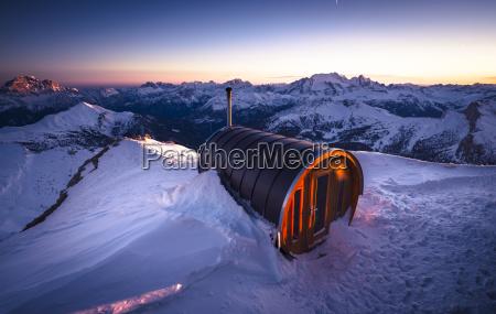 italy south tyrol dolomites sauna at