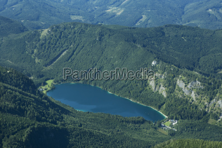 austria salzkammergut view of langbath lake