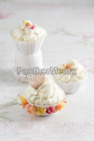 cupcake with vanilla creme and paper