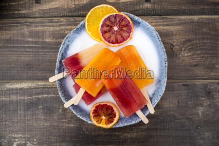 plate of different homemade orange ice