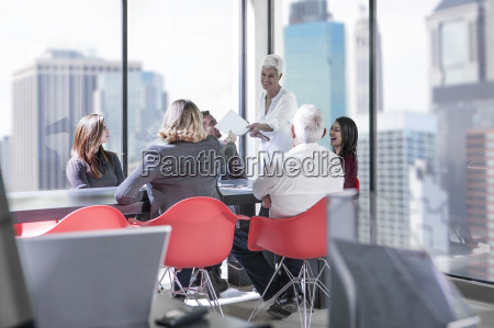 business meeting in city office