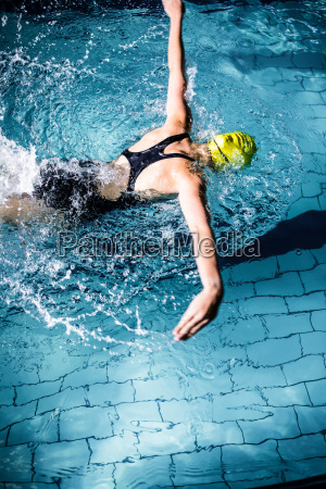 swimmer woman swimming in the swimming