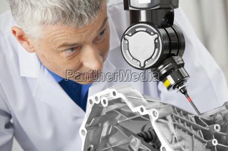 close up of engineer using computer