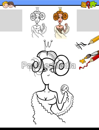 drawing and coloring task