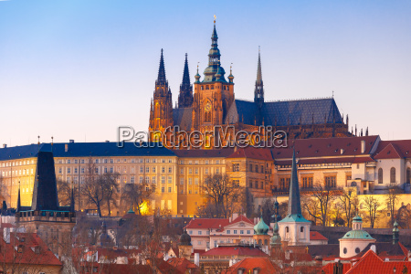 prague castle and mala strana czech