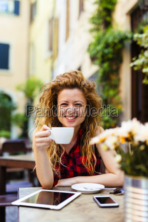 portrait of smiling woman at outdoor
