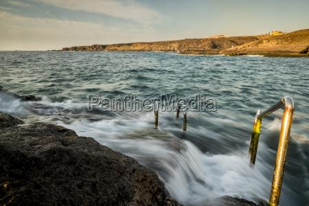 spain tenerife beach swimming area at