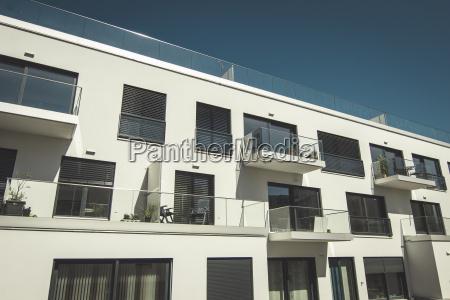 facade of modern multi family house