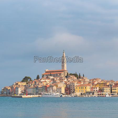 beautiful view of rovinj city croatia