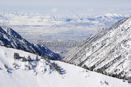 salt lake valley and fresh powder