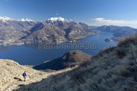 a tourist contemplating the landscape of