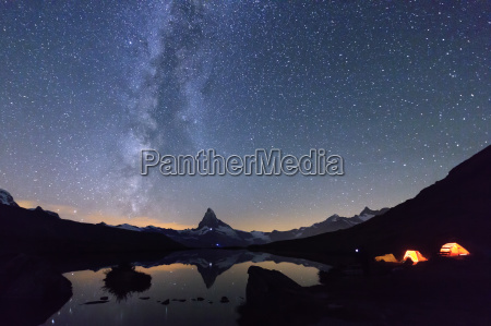 camping under the stars and milky