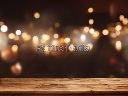 festive background in front of empty