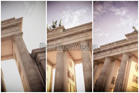 germany berlin brandenburger tor partial views