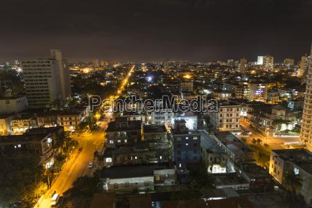 cuba havana cityscape at night