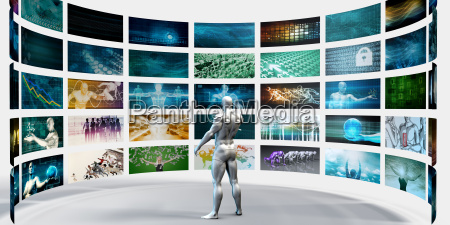 multimedia technology concept