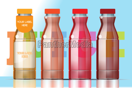 vector set of transparent glass or