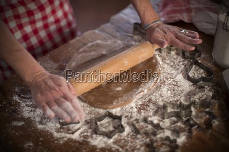 hand freizeit kueche schuerze kittelschuerze mehl