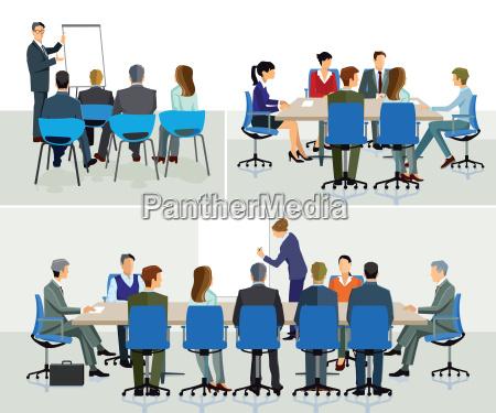 business seminar referent mit praesentation