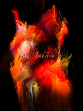 vibrant fractal brush