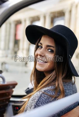 portrait of smiling woman on a