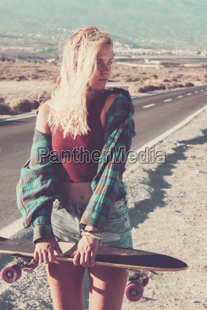 spain tenerife blond young skater