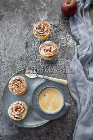 filo pastry apple cakes in rose