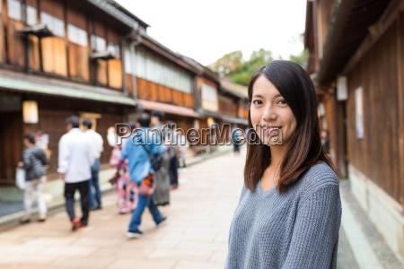 young woman in kanazawa city