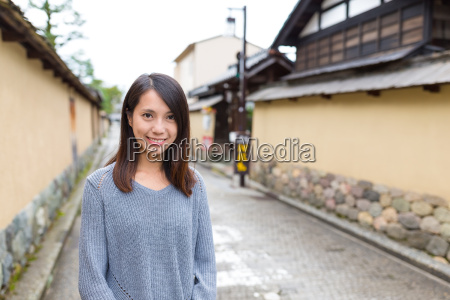 young asian woman at japan
