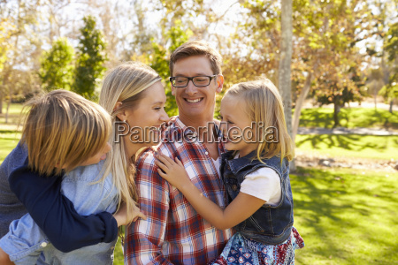 young white family having fun together