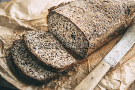 home baked wholemeal glutenfree bread and