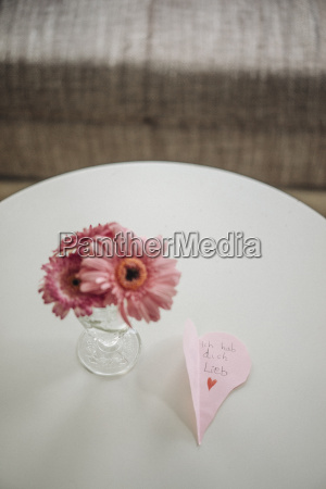 flowers and love message