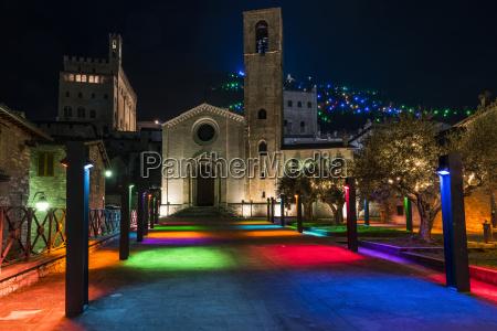italy umbria gubbio san giovanni square