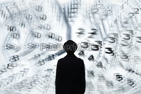 silhouette of man in front of