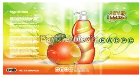 digital vector red and green shower