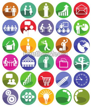 business, management, icon-set - 20686459