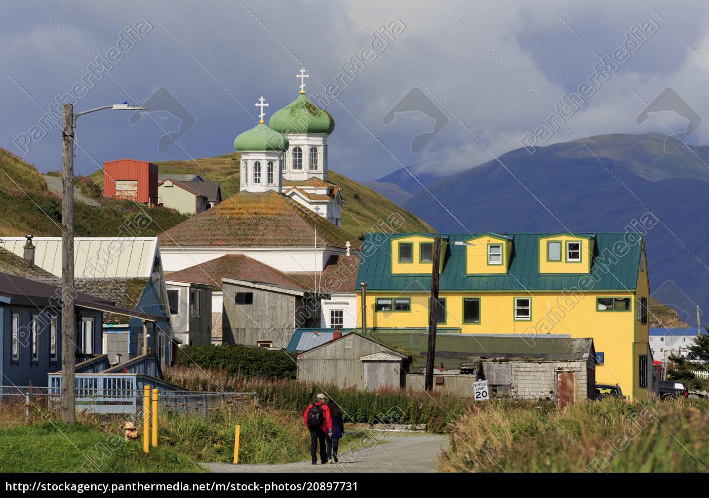 russisch-orthodoxe, kirche, insel, unalaska, aleutische, inseln, alaska, vereinigte, staaten, von - 20897731