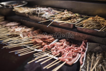 street food in chinatown at night