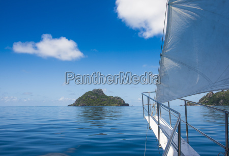 sailing in the very flat waters