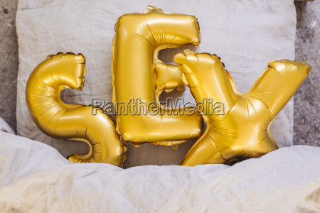 inflatable letters sex in bed