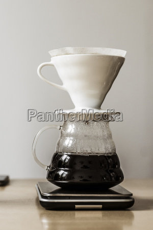prepared filter coffee