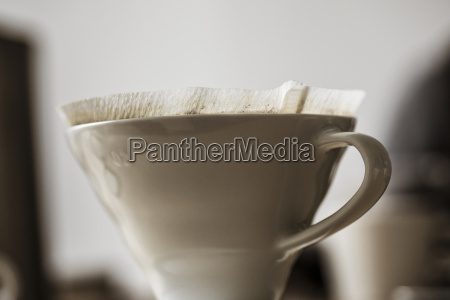 used porcelain coffee filter