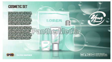 digital vector blue skin care cream