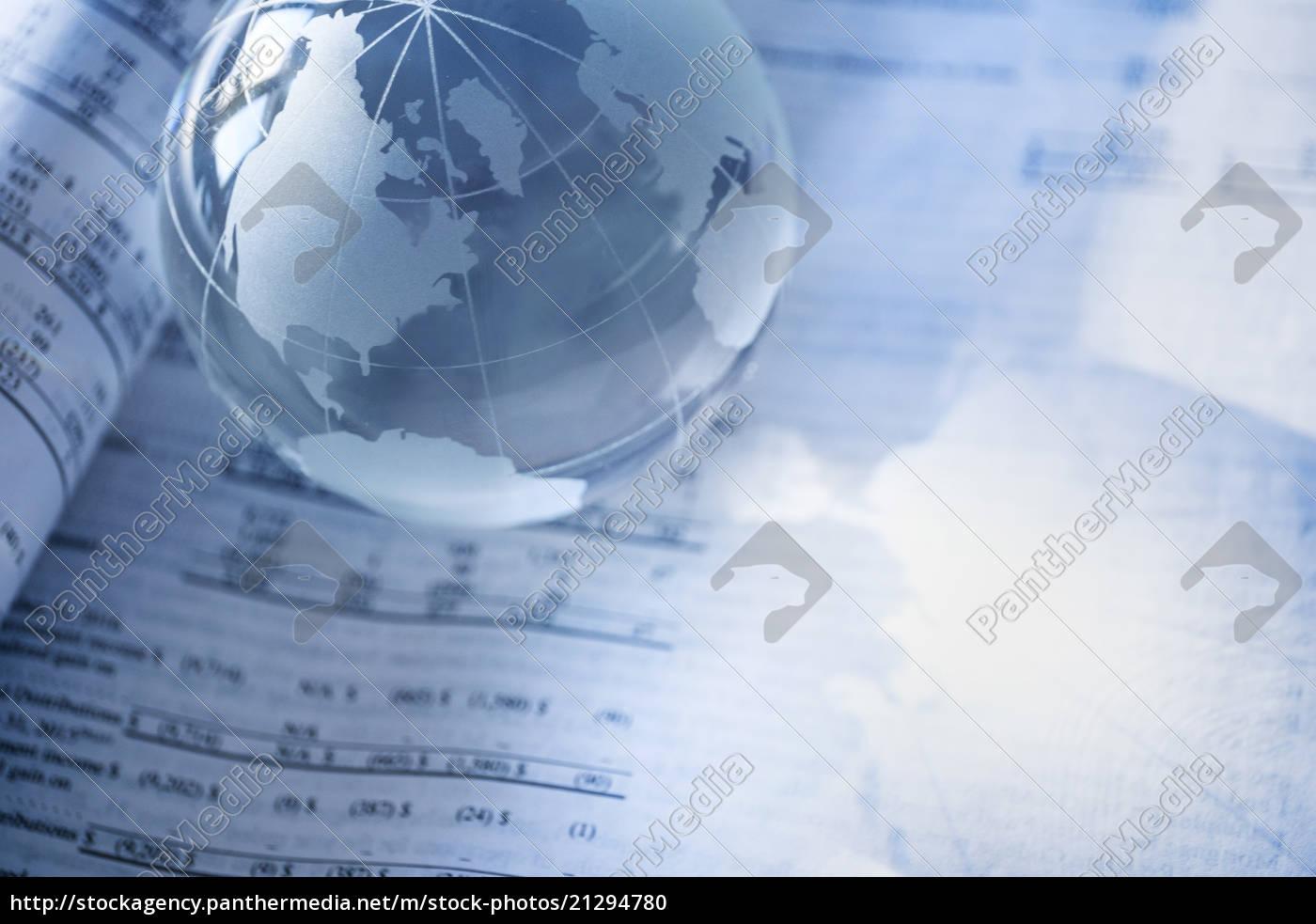 finanzzeitung, mit, kristallkugel - 21294780