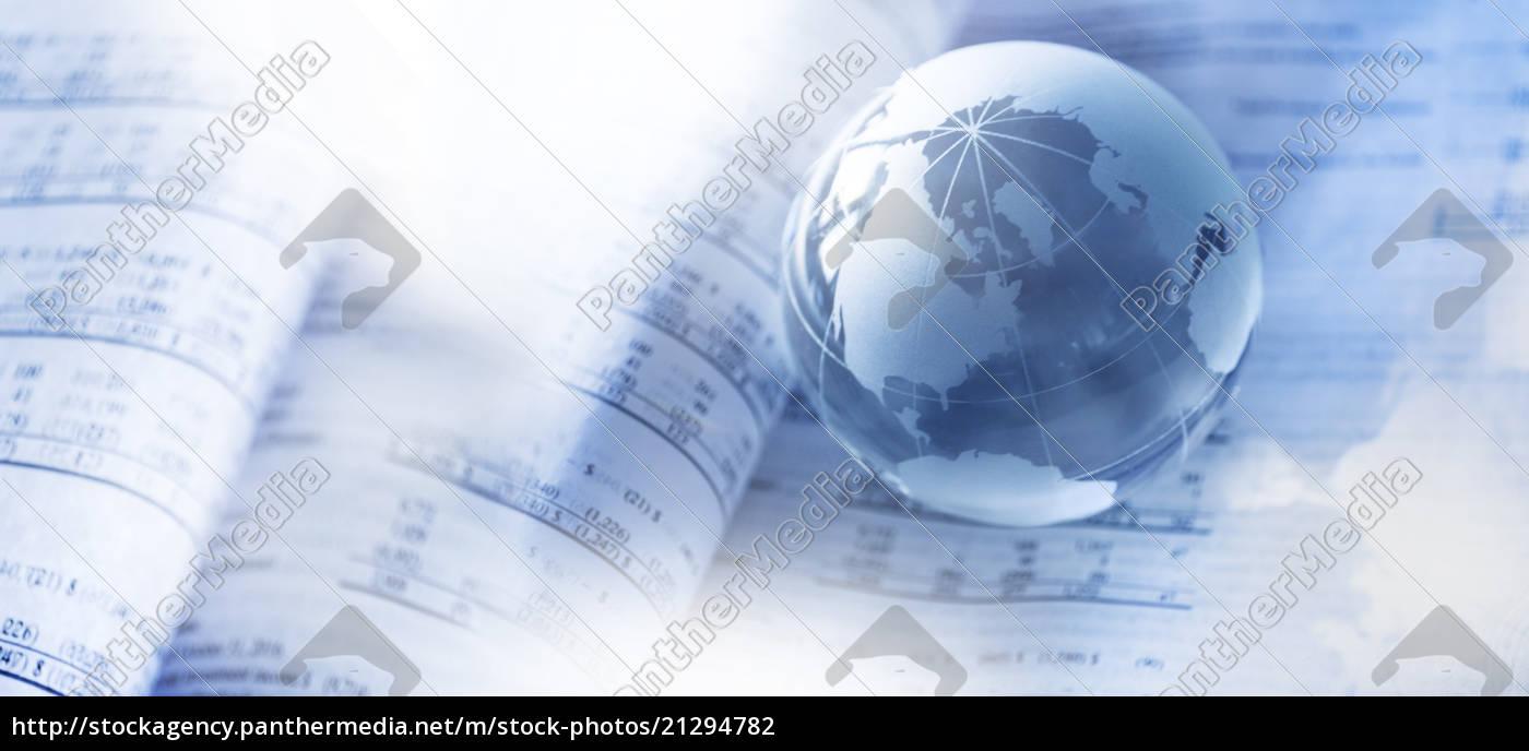 finanzzeitung, mit, kristallkugel - 21294782